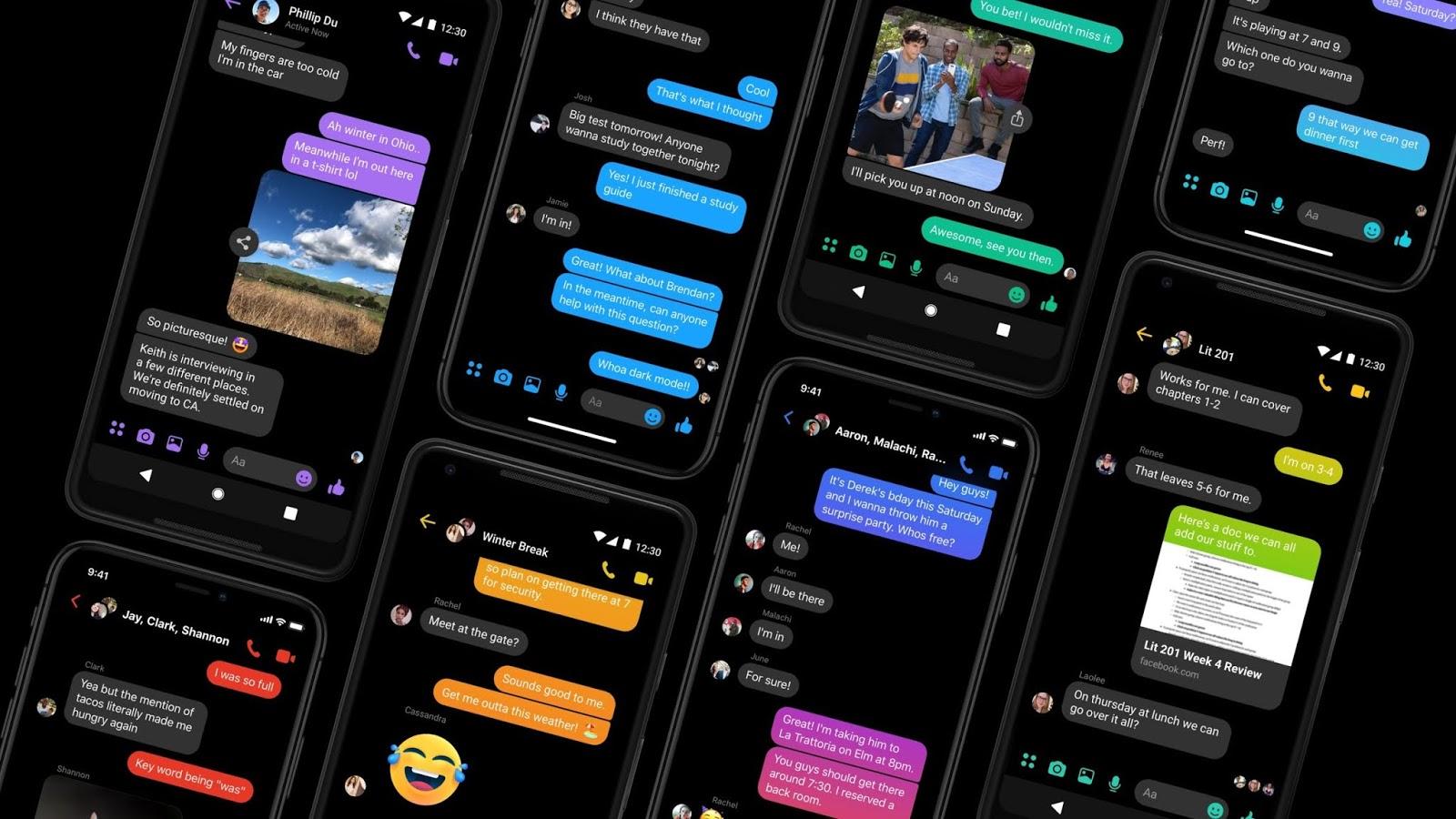 كيفية تمكين الوضع المظلم لـ Facebook Messenge (و iOSو android)