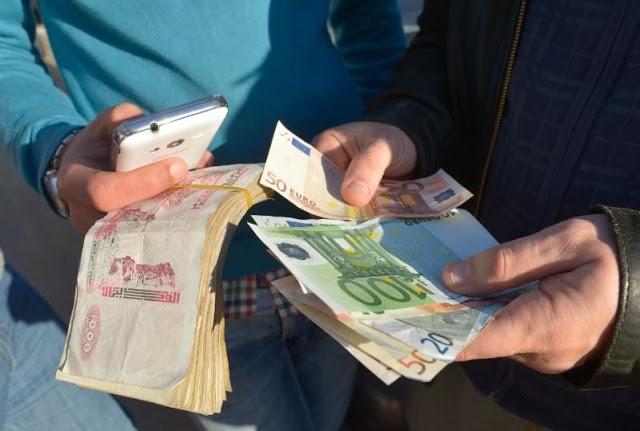 سعر اليورو مقابل الدينار الجزائري في السوق السوداء اليوم الخميس 15-8-2019