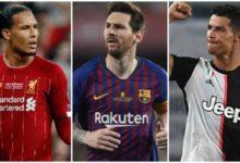 فيرجيل فان دييك وليونيل ميسي وكريستيانو رونالدو - من سيكون أفضل لاعب في أوروبا؟