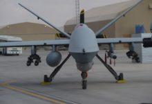 صورة طائرة عسكرية أمريكية بدون طيار أسقطت في اليمن