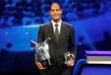 فاز فيرجيل فان دييك بجائزة أفضل لاعب في الاتحاد الأوروبي لكرة القدم