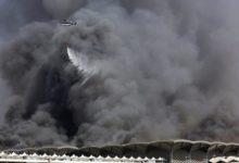 Photo of خمسة جرحى في حريق هائل في محطة قطار الحرمين في جدة