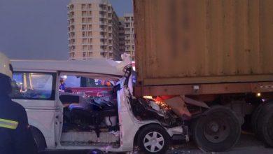 صورة مقتل ثمانية في حادث تحطم طريق في الإمارات