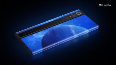 Photo of تعرض Xiaomi جهاز MI Mix Alpha، وهو هاتف ذكي بشاشة ملتفة وكاميرا ضخمة