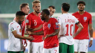 صورة إنجلترا تسحق بلغاريا بعد توقف اللعبة بسبب الإساءة العنصرية