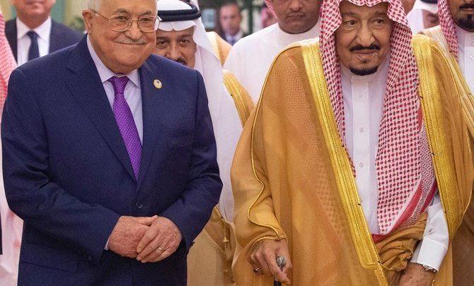 العاهل السعودي سلمان يلتقي بالرئيس الفلسطيني عباس