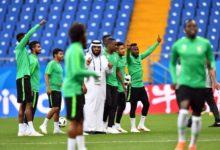 """صورة """"الهدف الذهبي"""": الفلسطينيون يحتفلون بالقرار السعودي بلعب كأس العالم في فلسطين"""