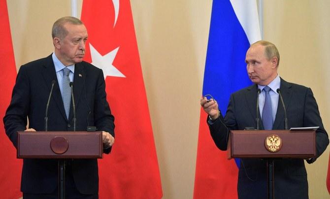 """أردوغان يشيد بـ """"الاتفاق التاريخي"""" مع بوتين بشأن سوريا"""