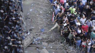 Photo of المئات يتجمعون في لبنان للاحتجاجات الجديدة