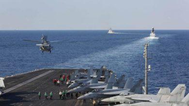 حاملة البحرية الأمريكية تعبر مضيق هرمز بعد الانتشار