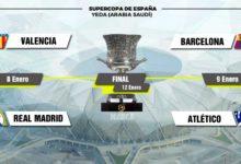 ريال مدريد يواجه فالنسيا بينما برشلونة يقابل أتلتيكو مدريد في نصف نهائي كأس السوبر الإسباني