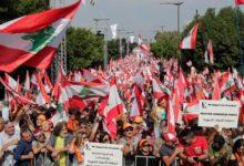 Photo of تجمع الآلاف لدعم الرئيس اللبناني