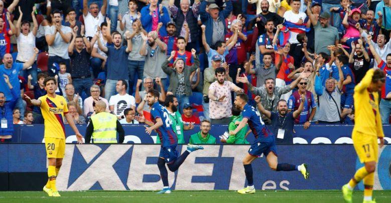 برشلونة يخسر 3-1 أمام ليفانتي رغم هدف ميسي