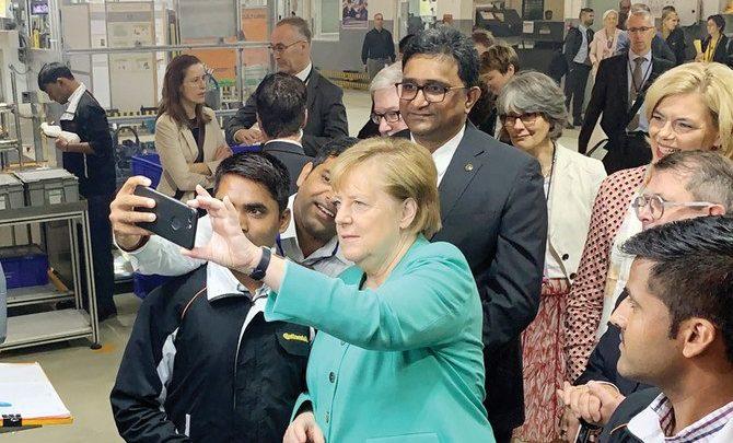 ميركل تجدد مساعيها لإبرام اتفاقية تجارة حرة مع الهند