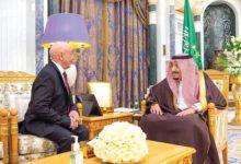 صورة الملك سلمان يستقبل رئيس مجلس النواب الليبي
