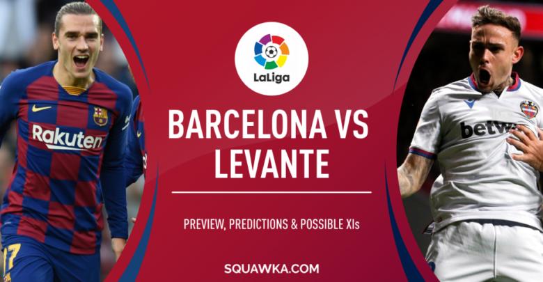 موعد مباراة برشلونة وليفانتي اليوم الأحد 2 فبراير 2020، التشكيلة والغيابات والقنوات الناقلة