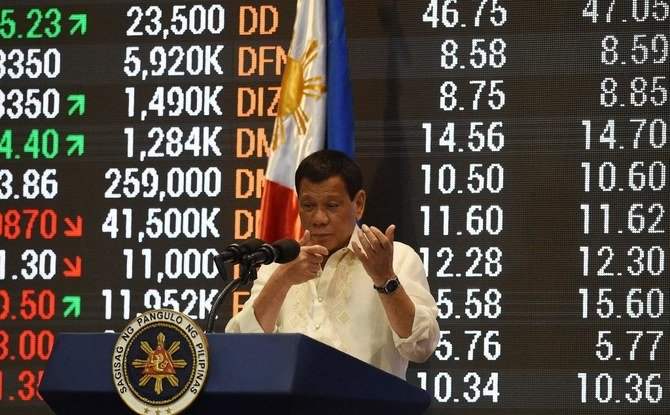 الأسهم الفلبينية تتراجع بنسبة 25٪ تقريبًا بعد توقف التداول ليومين