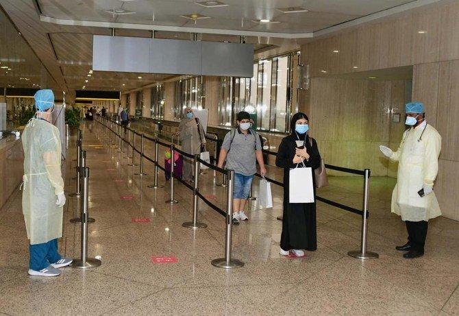 مواطنون سعوديون يصلون إلى الدمام في رحلة إجلاء من ماليزيا