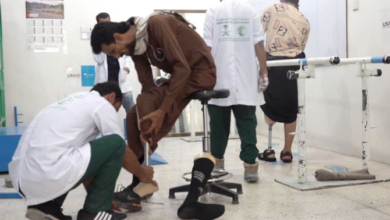 Photo of وكالة المساعدات السعودية تواصل دعمها لمركز الأطراف الصناعية في اليمن