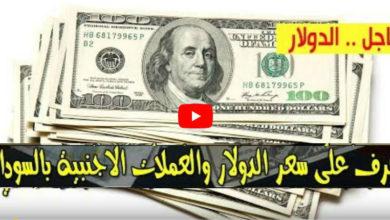 Photo of سعر الدولار وأسعار العملات الأجنبية مقابل الجنيه السوداني اليوم السبت 11 يوليو 2020 في السوق السوداء
