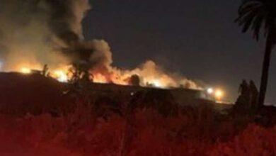 Photo of بالفيديو حريق في سوق الاعلاف السعودية والدفاع المدني يسيطر على النيران