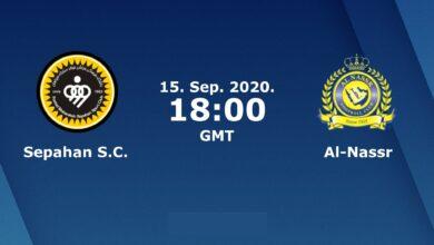 صورة موعد مباراة النصر السعودي وسباهان اصفهان 15-9-2020 والقنوات الناقلة في دوري أبطال آسيا