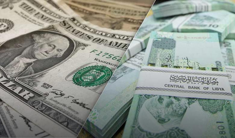انخفاض الدولار واليورو مقابل الدينار الليبي