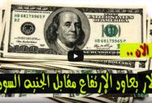 ارتفاع سعر الدولار اليوم الاحد