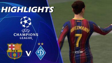 موعد مباراة برشلونة ودينامو كييف