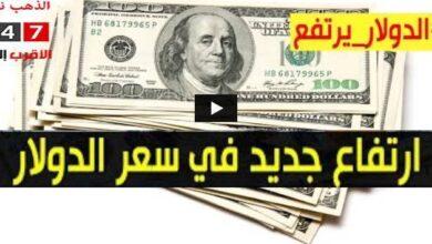 ارتفاع سعر الدولار وأسعار العملات