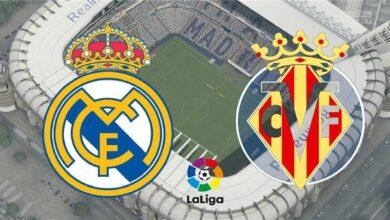 صورة القنوات المفتوحة الناقلة لمباراة ريال مدريد وفياريال اليوم السبت في الدوري الأسباني