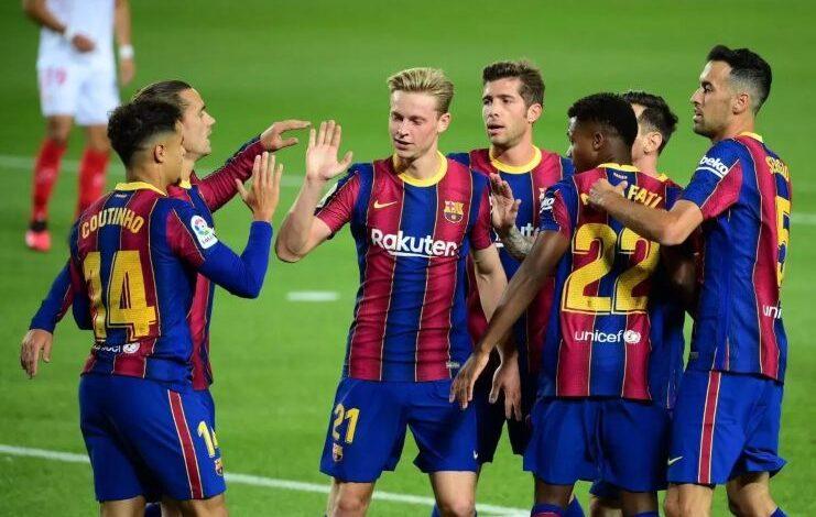 تشكيلة برشلونة وفالنسيا السبت في الدوري الإسباني