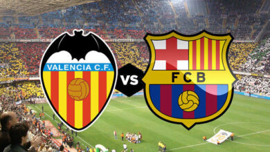 تردد القنوات المفتوحة الناقلة مباراة برشلونة وفالنسيا