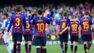 تشكيلة برشلونة المتوقعة في مباراة اليوم ضد إيبار