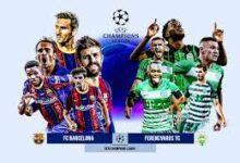 صورة القنوات المفتوحة الناقلة لمباراة برشلونة وفيرينكفاروسي اليوم في دوري أبطال أوروبا