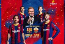 صورة تشكيلة مباراة برشلونة وإلتشي في الدوري الإسباني
