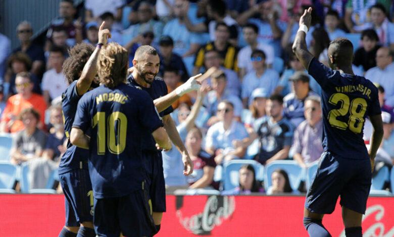 تشكيلة ريال مدريد المتوقعة ضد سيلتا فيغو