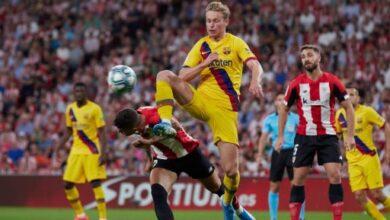 تشكيلة برشلونة في مباراة الأحد ضد أتلتيك بلباو