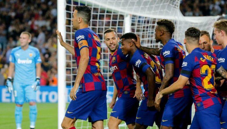 تشكيلة برشلونة في مباراة اليوم ضد أتلتيك بيلباو