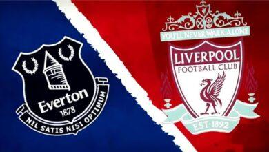 تشكيلة مباراة ليفربول ضد إيفرتون