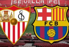 موعد مباراة برشلونة وإشبيلية