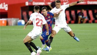 تشكيلة برشلونة اليوم ضد إشبيلية