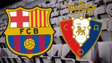 موعد مباراة برشلونة وأوساسونا
