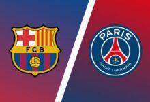 موعد مباراة برشلونة وباريس سان جيرمان 2021