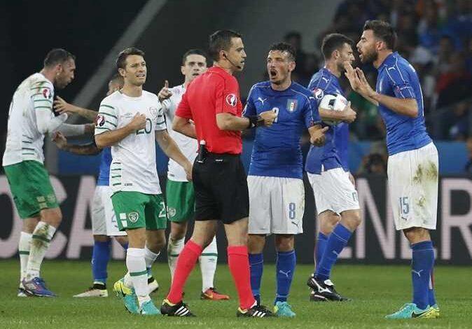 القنوات المفتوحة الناقلة لمباراة ايطاليا وايرلندا اليوم