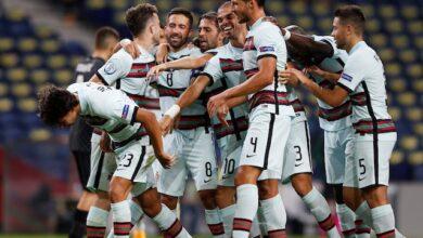 تشكيلة مباراة البرتغال ضد أذربيجان