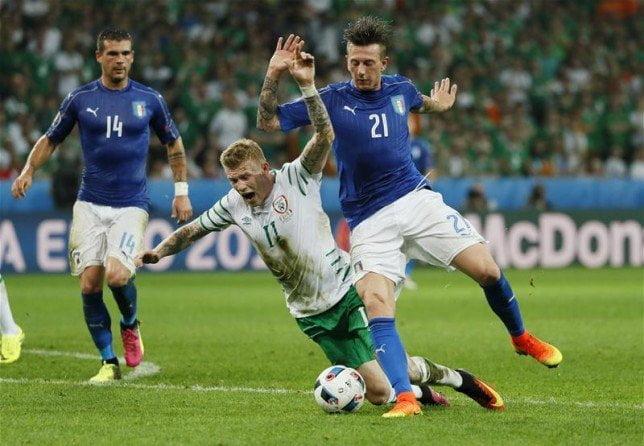 موعد مباراة إيطاليا وإيرلندا الشمالية