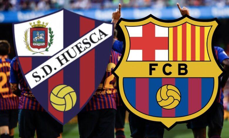 موعد مباراة برشلونة ضد هويسكا