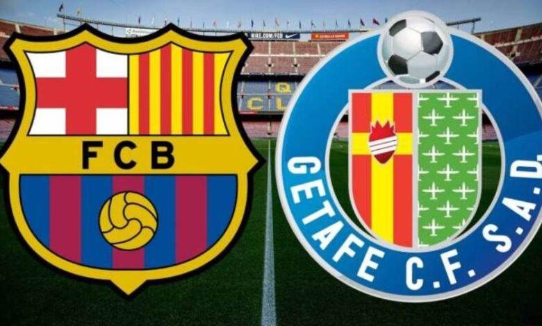 موعد مباراة برشلونة وخيتافي